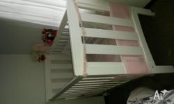 Wooden cot really good condition only once slept in