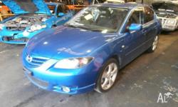 We are currently wrecking this 2004 MAZDA 3 2.3 5 SPEED