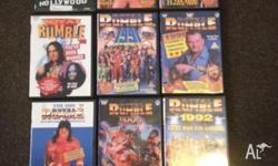 9 wrestling dvd: Royal Rumble from 1989 - 1996. Plus