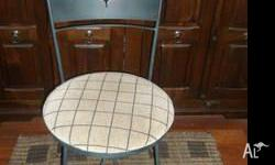 Wrought iron chairs in good condition x 4