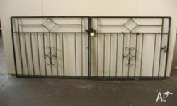 Wrought Iron Front Driveway Gates measuring 2700 w x
