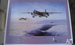 THIS STUNNING PRINT IS HAND SIGNED BY THE ARADO PILOT,