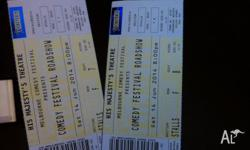 I am selling 2 tickets to the Melbourne International