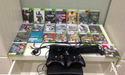 Xbox 360 with kinect and 23 games, games listed Fear