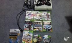 Xbox 360 Console + 9 Games + 2 wireless controllers +