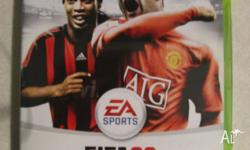 Xbox 360 Fifa 09 Game, comes with manual, is in