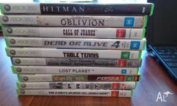 I am selling 10 XBOX 360 games, all in good condition,
