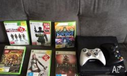 Xbox 360, two controllers, fable 2, kameo, final