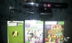 Selling my xbox 360 kinect sensor + genuine clamp + 2