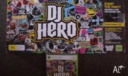 xbox dj hero and game only used twice pick up only