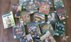 There is 1 xbox 360 game, and 16 xbox games all in good