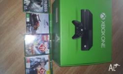 Xbox one .vg uses condition. Comes with 4 games.