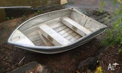 Small dinghy in average condition. Two kids can carry