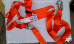 AS NEW BURKE FULL SAFETY HARNESS WITH 2 M SAFETY STRAP
