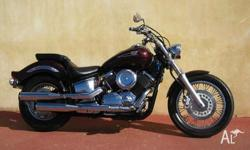 YAMAHA,1100CC,2007, CRUISER, 1.1, 2cyl, 5sp MANUAL,