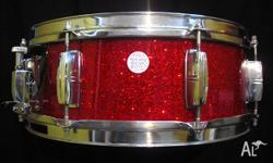 Yamaha 1960s Vintage Birch Snare Drum. 14in x 5.5in