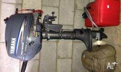 Yamaha 4hp four stroke outboard motor with fuel tank