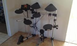 An electric drum kit for the enthused professional to