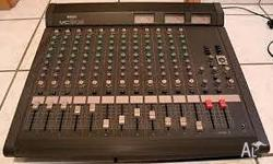The console has 12 mono inputs, choice of XLR or jack.