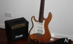 Left handed Yamaha Pacifica electric guitar in good
