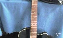 YAMAHA Acoustic Electric Guitar....Black. The