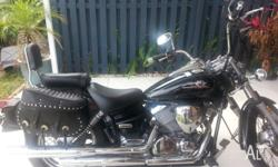 Yamaha V-Star 250cc is in Excellent condition. I am
