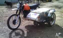 XT500 sidecar,1978 model,on classic rego.Nice neat