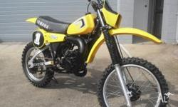 Low hour beautiful condition YZ125H 1981 YAMAHA See the