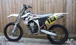 2009 YZ250f, white, has Krooztune forks, Devol radiator