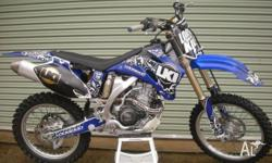 FOR SALE 2008 YAMAHA YZ 250F SET UP FOR FMX BUT CAN BE