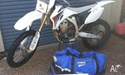 2008 Yamaha YZF 450 - White and grey plastics Good