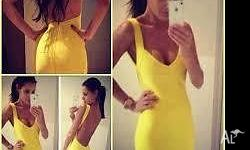 This Yellow Bandage dress is an XS, only been worn once