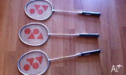 03 Nos Yonex Badminton Racquets ( Model GR - 303 ) for