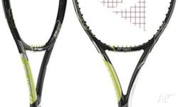 The racquet is the latest available model, the