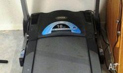 Near new motorized treadmill, hardly used - 2.0 Hp - 18