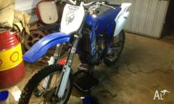 Hi all up for swaps is my 2001 yz250f. the bikes engine