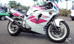 The fore runner to the R1, this bike is original from