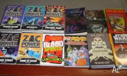 Various books for sale Zac Powers- Lunar Strike, Tomb