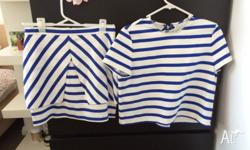 ZARA matching stripe outfit Size M Worn once Excellent