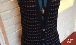 Lovely navy button down vest, can be worn done up as a