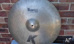 Zildjian K heavy ride cymbal 22 inch ,weighs over