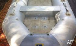 Zodiac 2.8 metre air deck inflatable dinghy. It holds