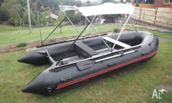 zodiac inflatable boat 4.2m or 14 ft new boat never