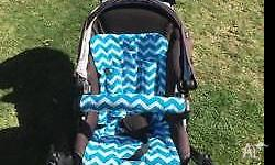 Zoom double pram. Well used. New chair pads and seat