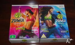 I have both the Zumba games for the Wii, they both have
